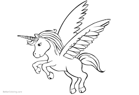 unicorn coloring pages printable for kids with cute unicorn coloring pages with wings free printable coloring