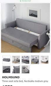 ikea holmsund 3 seat sofa bed