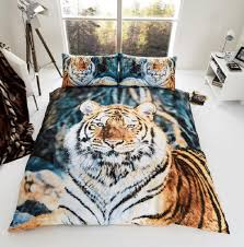 3d tiger duvet cover