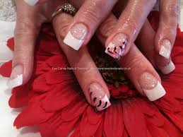 Eye Candy Nails & Training - White tips with freehand nail art by ...
