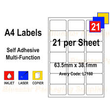 The template is very simple to use and customize in word. Address Labels White Self Adhesive A4 Bluestar Packaging Supplies
