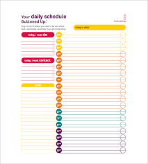 Daily To Do List Examples Daily Task List Templates 8 Free Sample Example Format
