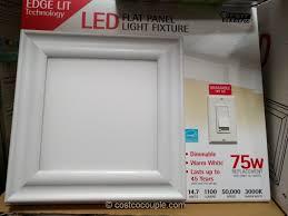 feit electric led flat panel light fixture costco 2
