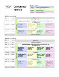 Agenda Office Detailed Conference Agenda Template With Company Logo Office