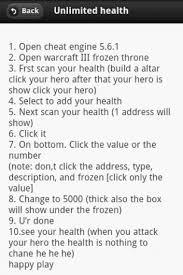 warcraft iii cheats ver gratis