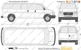 The-Blueprints.com - Vector Drawing - Chevrolet Express LWB