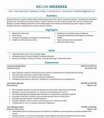 32679 Insurance Agents And Brokers Resume Examples Insurance