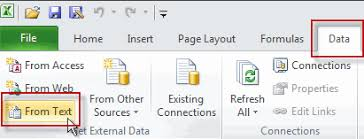 import data from text files on excel 2007 2010 ribbon