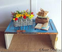 how to make diy door coffee table