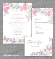 Online Invitations Templates Printable Free Best Spring Butterflies Wedding Invitation Set ← Wedding Invitation