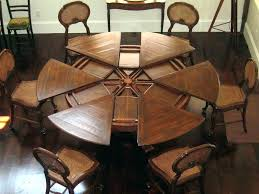 amazing expandable dining room table plans 3 round expanding extendable sets diy