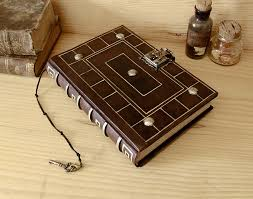 lock book antiqued leather journal with lock and key secret words