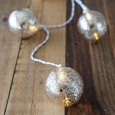 Mercury Glass Globes With Lights Decorative Battery Operated Led String Lights Gold Mercury Globe