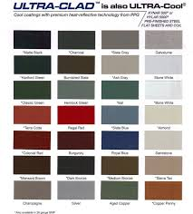 Standing Seam Roof Color Chart Metal Roofing Colors Fabulous Metal Roofing Color Guide