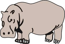 Small Picture Hippopotamus Coloring Pages for Kids to Color and Print