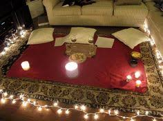 Romantic ideas with rose petals and candles. Would def win me over never  had