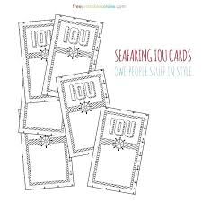 Free Iou Format Maritime Themed Printable Coupons Template Free Iou Coupon