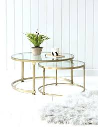 gold and glass coffee table appealing round sets