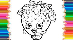 Strawberry Kiss Shopkins Coloring Pages L Coloring Book For