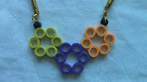 Quilling Chain Designs How To Make Quilling Necklace Tutorial Design 2