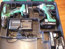 hitachi dv18dgl. hitachi dv18dgl 18v combi drill / wh18dgl impact driver + 4 batteries box dv18dgl