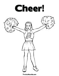 Coloring Pages Cheerleader Coloring Pages Free Page Printable