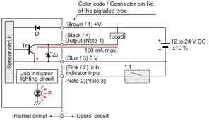 compact size picking sensor na1 pk3 i o circuit and wiring npn output type i o circuit diagram