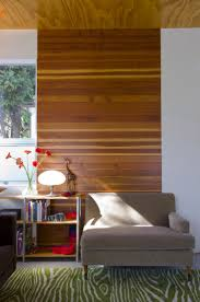 horizonal paneling pops against a white wall ideas diy modern wood wall panel