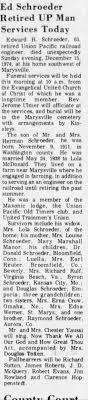 Obituary for Edward H. Schroeder, 1911-1974 (Aged 63) - Newspapers.com