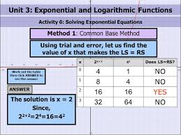 unit 3 exponential and logarithmic functions
