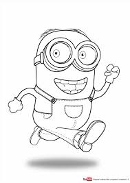 Minion Coloringpage Discapable Me Kids Painting Pages Minions