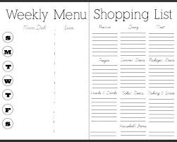 Printable Weekly Dinner Menu Free Weekly Meal Planner With Grocery List Inside Dinner
