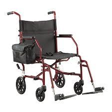 Walgreens Ultra Light Weight Transport Chair Burgundy Walgreens