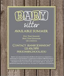 Babysitting Flyer Template Beautiful 5 Best Of Cute Babysitting Flyer Template Culturatti