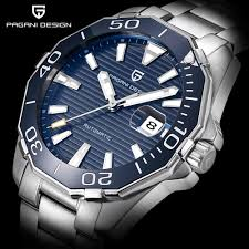 mens luxury watches promotion shop for promotional mens luxury pagani design men s classic diving series mechanical watches waterproof steel stainless brand luxury watch men relogio masculino