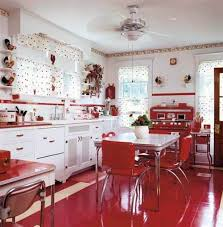 Retro Kitchen Floor Red White Vintage Kitchen Decorating Vintage Kitchen Gallery