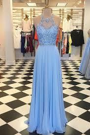 <b>gorgeous prom</b> dress, blue <b>chiffon prom</b> dress, long <b>prom</b> dress ...