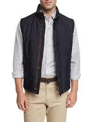 Peter Millar Milano Quilted Button/Zip Vest, Navy &  Adamdwight.com