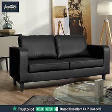 faux leather box sofa set black or