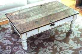 distressed coffee and end tables white table wonderful wood craftsman oa