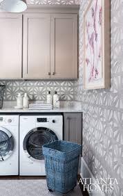 laundry room wallpaper// Atlanta Homes & Lifestyles