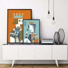 Poker King Queen Love Minimalist Pair of Art Print Poster Abstract Image  Wall of Canvas Painting With UnFramed Room Home Decor-in Painting &  Calligraphy ...