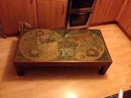 old world coffee table great old world coffee table with impressive old world map coffee table