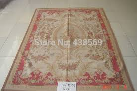 Free shipping 9'x12' Aubusson woolen rugs red and camel design Shabby Chic  carpets