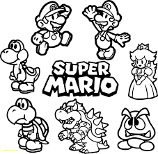 Coloring Pages Mario Luigi Coloring Pages Free And Super