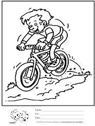 Olympic Colouring Page Mountain Biking Coloring Pages Sports