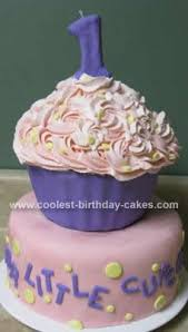 Coolest Giant Cupcake First Birthday Cake Idea