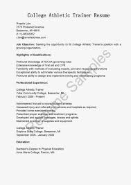Gallery Of Athletic Resume Template