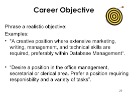 Resume Career Objective Statement Objective For A Job Resume Career Objective Statement Job Objective 76
