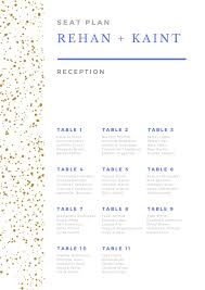 Seating Chart Design Design An Attractive And Unique Wedding Seating Chart Plan